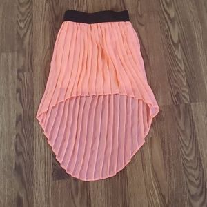 Pinky girls size 7 neon orange waisted skirt line